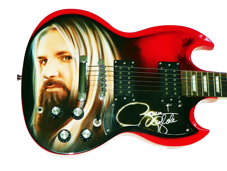 Zakk Wylde BLS Autographed Airbrushed SG Style Guitar