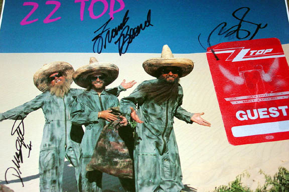 ZZ Top Autographed Signed El Loco Album PSA/DNA & Video Proof