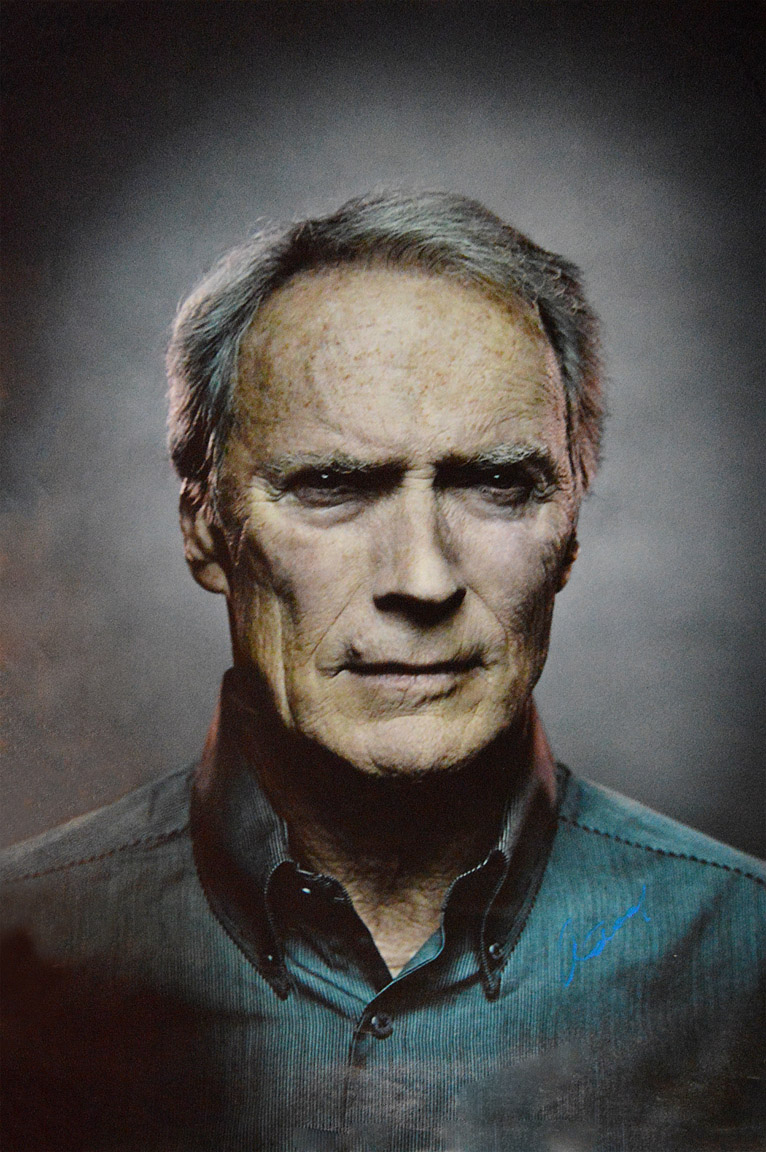 Clint Eastwood Autographed Canvas Poster Gran Torino Photo ...