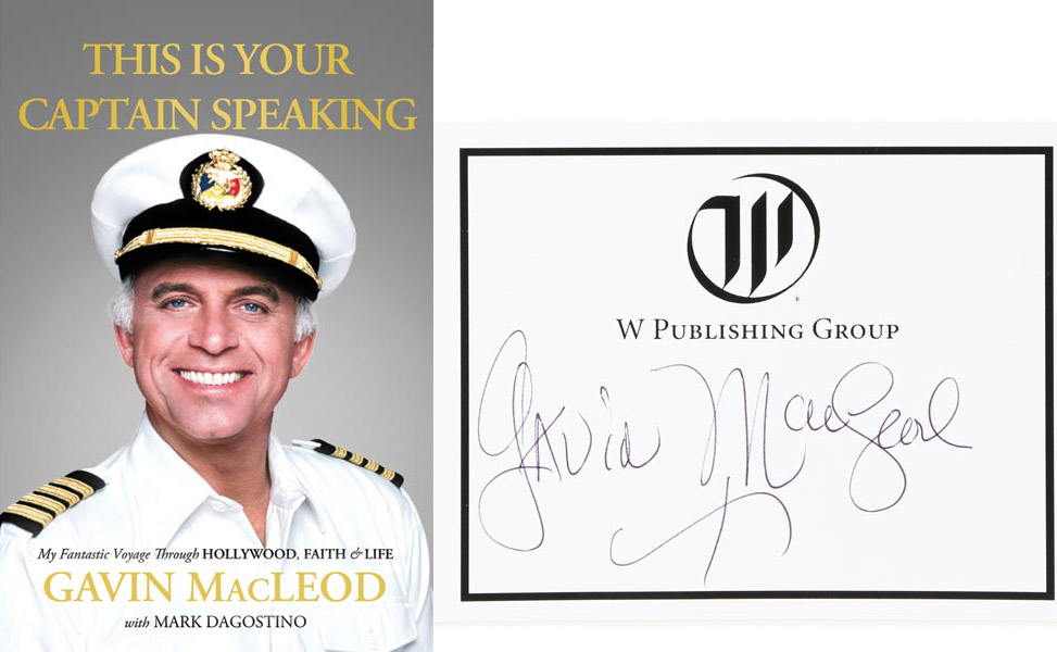 Gavin Mcleod Signed Love Boat This Is Your Captain Speaking Hc Book