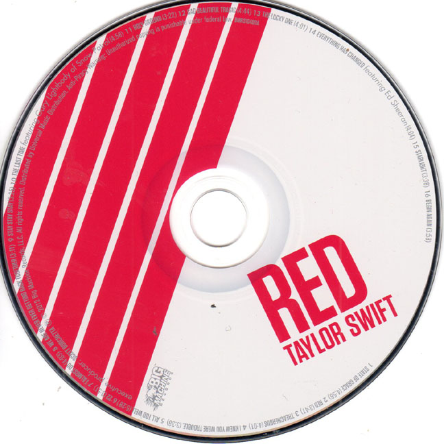 Taylor Swift Un-Signed Red CD – Autograph